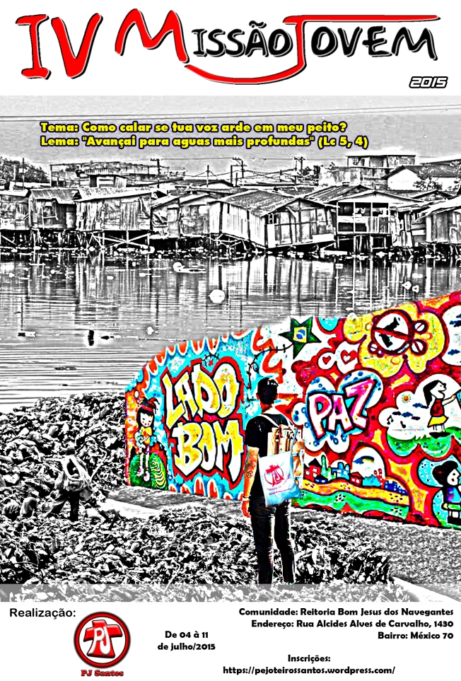 Jovem missionário avistando do outro lado a comunidade do México 70 e o desafio de trazer cor para aquelas pessoas.