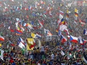 Milhares de bandeiras dançavam na praia de Copacabana...